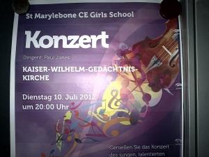 St Marylebone Concert poster