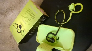 My wireless BackBeat headset in groovy lime green